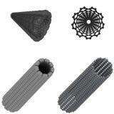 Nanotube del carbonio Fotografia Stock
