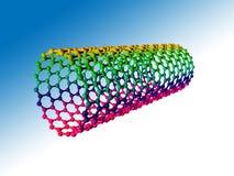Nanotube del carbonio royalty illustrazione gratis