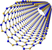 Nanotube för Boronnitride Fotografering för Bildbyråer