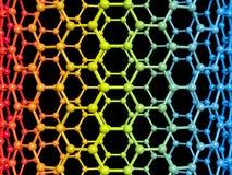 Nanotube illustration Royaltyfri Bild