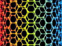 Nanotube illustration Royalty Free Stock Image