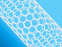 Nanotube structure Stock Image