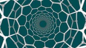Nanotube structure vector illustration
