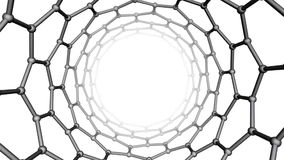 Nanotube structure stock video footage