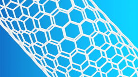 Nanotube structure Stock Photography