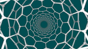 Nanotube struktura ilustracja wektor