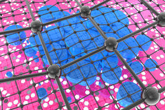 Nanotubes - the symmetry and coal. Nanotechnology - the future and hope Stock Photo
