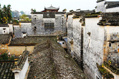 Nanping-Dorf, eine berühmte Huizhou-Art alte Architektur in China stockfotos