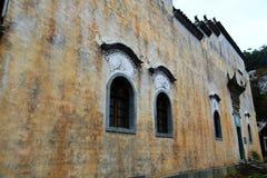 Nanping by, en forntida arkitektur för berömd Huizhou typ i Kina Arkivbilder