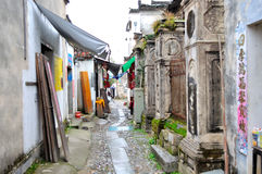 Nanping wioski Handlowa ulica Fotografia Royalty Free