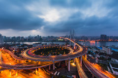 NanPu-Brücke Stockfotografie