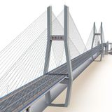 Nanpu-Brücke auf Weiß Abbildung 3D Lizenzfreie Stockbilder