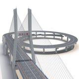 Nanpu-Brücke auf Weiß Abbildung 3D Lizenzfreies Stockbild