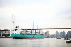 Nanpu Bridge in Shanghai Stock Image
