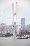 Nanpu-Fluss-Brücke Shanghai China Stockbilder
