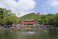 Nanputuo temple at chinese national day holiday Royalty Free Stock Image