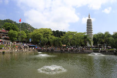 Nanputuositempel bij Chinese nationale dagvakantie Stock Afbeelding