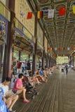 Nanqiao bridge leisure life scenery in summer Royalty Free Stock Photos