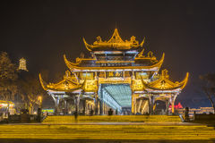 Nanqiao Bridge at night Stock Photography