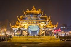 Nanqiao bro på natten Royaltyfria Bilder