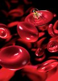 Nanrobot in blood stream Stock Image