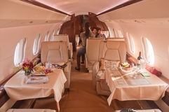 Nanshan Boeing BBJ Jet cabin interior Stock Photos
