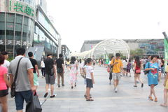 The Nanshan district center square in SHENZHEN CHINA ASIA Royalty Free Stock Photo