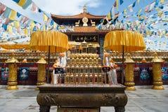Nanshan tempellandskap på Hainan, Kina Royaltyfri Bild
