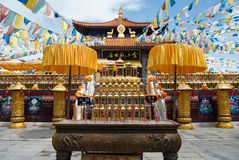 Nanshan Temple scenery at Hainan, China Royalty Free Stock Image