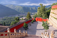 Nanshan Temple, Wutaishan, China Stock Photography