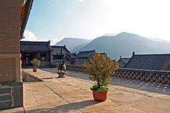 Nanshan Temple, Wutaishan, China Stock Photography