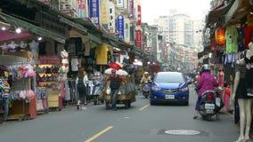 Nanshijiao-Nachtmarkt in Taiwan stock video