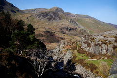 Nant Ffrancon view Royalty Free Stock Images