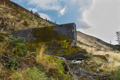 Nant-y-Gro Dam, blown up during war for testing of dambusters bo Royalty Free Stock Photography