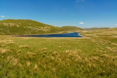 Nant-y-Moch Reservoir, Wales, UK. Welsh landscape at the Nant-y-Moch Reservoir, Ceredigion, Dyfed, Wales, UK Royalty Free Stock Image