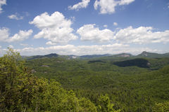 Nantahala National Forest. Overlook off Highway 64 between Highlands and Cashiers North Carolina stock image