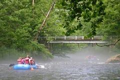 Nantahala River Rafters 1 Royalty Free Stock Photography
