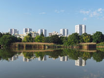 Nanterre seen from Malraux park , june 2013 Stock Photo