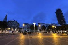 Nantes architecture at night Royalty Free Stock Image