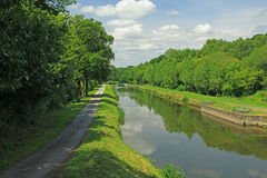 Nantes-Brest canal, France Stock Images