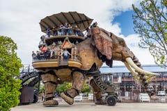 Nantes Francja, Maj, - 3, 2017: Wielki słoń jest częścią zdjęcia royalty free