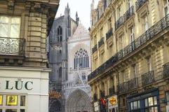 Nantes (Frankreich): gotische Gebäude lizenzfreie stockfotos
