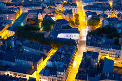 Nantes nachts Sommer lizenzfreies stockfoto