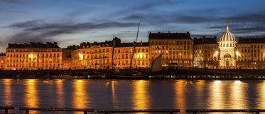 Nantes-Panorama über der Loire Lizenzfreie Stockfotos