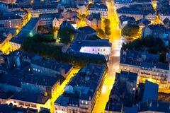 Nantes przy lato nocą Zdjęcie Royalty Free