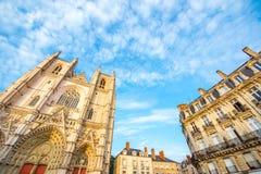 Nantes-Stadt in Frankreich lizenzfreies stockfoto