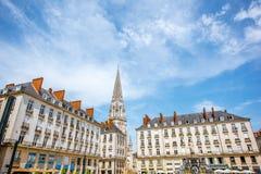 Nantes-Stadt in Frankreich lizenzfreie stockfotos
