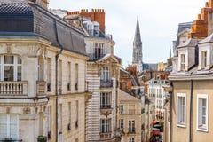 Nantes-Stadt in Frankreich stockbild