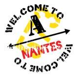 Nantes-Stempelgummischmutz Stockbild