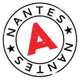 Nantes znaczka gumy grunge Obraz Stock